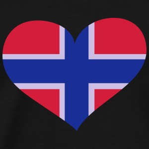 Norwegen Herz; Heart Norway Langærmede t-shirts - Herre premium T-shirt