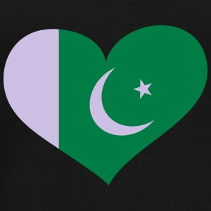 Pakistan Herz; Heart Pakistan Bags & Backpacks - Men's Premium T-Shirt