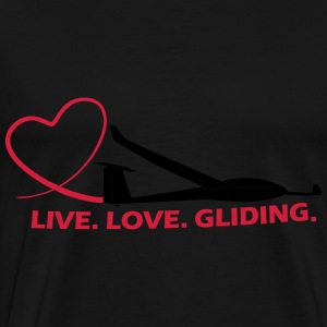live love gliding Hoodies & Sweatshirts - Men's Premium T-Shirt