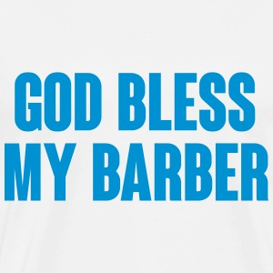 God bless my barber Tröjor - Premium-T-shirt herr