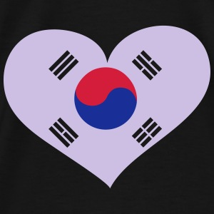 Südkorea Herz; Heart South Korea Gensere - Premium T-skjorte for menn