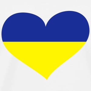 Ukraine Herz; Heart Ukraine Sports wear - Men's Premium T-Shirt