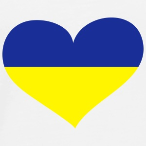 Ukraine Herz; Heart Ukraine Buttons - Men's Premium T-Shirt