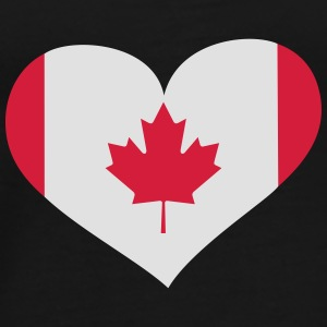 Kanada  Herz; Heart Canada Bags & Backpacks - Men's Premium T-Shirt