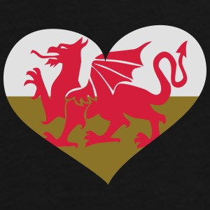 Wales Herz; Heart Wales Mugs & Drinkware - Men's Premium T-Shirt