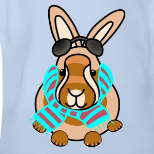 Winter bunny t-shirt for kids - Organic Short-sleeved Baby Bodysuit