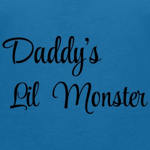 Daddy's little monster Babyhaklapp - T-shirt med v-ringning dam