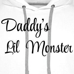 Daddy's little monster Shirts - Mannen Premium hoodie