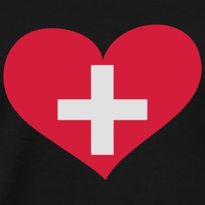 Schweiz Herz; Heart Switzerland Long sleeve shirts - Men's Premium T-Shirt