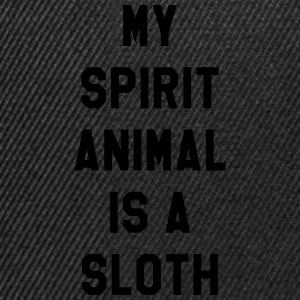 My spirit animal is a sloth T-Shirts - Snapback Cap