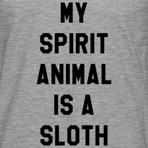 My spirit animal is a sloth T-skjorter - Premium langermet T-skjorte for menn