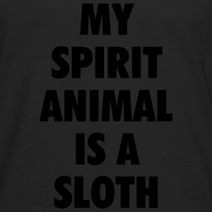 My spirit animal is a sloth T-shirts - Mannen Premium shirt met lange mouwen