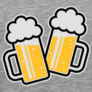 2 Clinking Beer Glasses For A Cheer! (3C) Tank Top - Men's Premium T-Shirt