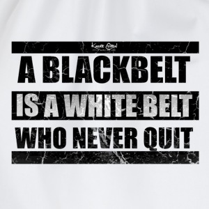 quote 1 blk.png T-Shirts - Drawstring Bag