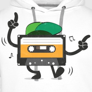 Dancing Cassette Tape (Vintage Style) T-shirts - Mannen Premium hoodie