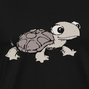 Adorable Tortoise Cartoon Sketch Long Sleeve Shirts - Men's Premium T-Shirt
