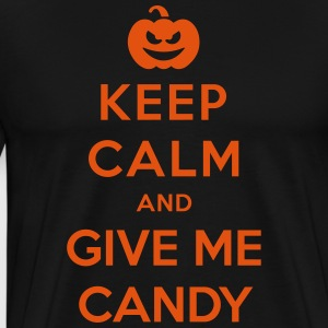 Keep Calm Give Me Candy - Funny Halloween  Aprons - Men's Premium T-Shirt