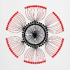 Red Poppy Seeds Mandala - Cooking Apron