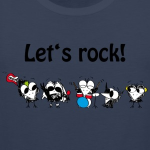 Let's rock! T-Shirts - Männer Premium Tank Top