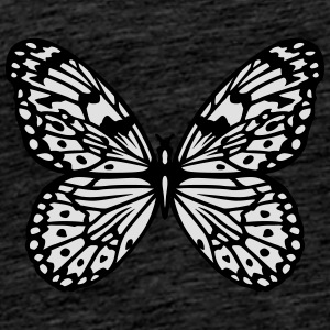 Black and white butterfly Tops - Men's Premium T-Shirt