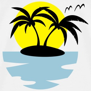 Tropical Island Drawstring Bag - Men's Premium T-Shirt
