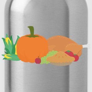 Thanksgiving Turkey and pumpkin Shirts - Water Bottle