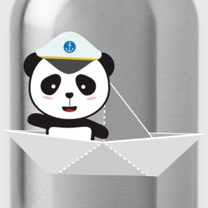 Captain Panda paper boat T-Shirts - Water Bottle