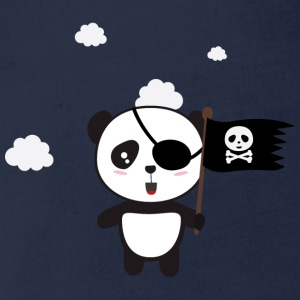 Pirate Panda with flag Shirts - Organic Short-sleeved Baby Bodysuit