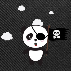 Pirate Panda with flag Shirts - Snapback Cap
