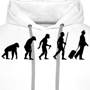 Pilote Evolution Tee shirts - Sweat-shirt à capuche Premium pour hommes