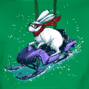 Hare Snowmobile T-Shirts - Men's Premium Hoodie