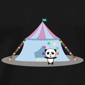 Panda in the circus juggling Long Sleeve Shirts - Men's Premium T-Shirt