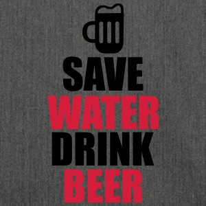 Save Water Drink Beer  - Skuldertaske af recycling-material
