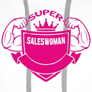 Super saleswoman T-Shirts - Men's Premium Hoodie