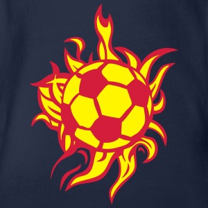 flamme fussball 1 T-Shirts - Baby Bio-Kurzarm-Body