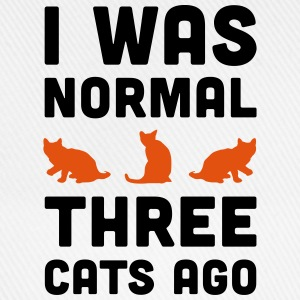 3 Cats Ago Funny Quote T-Shirts - Baseball Cap