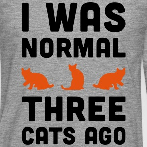 3 Cats Ago Funny Quote T-Shirts - Men's Premium Longsleeve Shirt