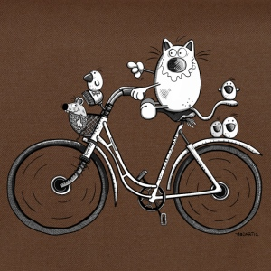 The cat is biking T-Shirts - Shoulder Bag