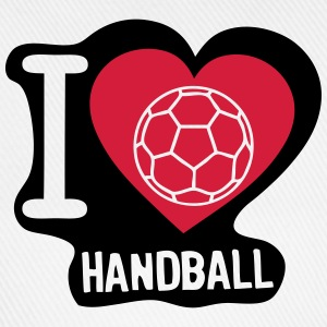 i love ball handball heart 5 T-Shirts - Baseballkappe