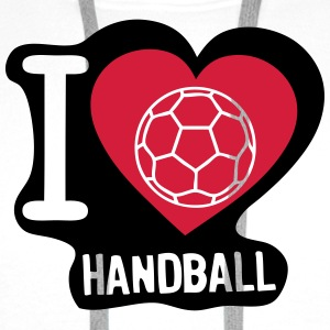 i love ball handball heart 5 T-Shirts - Männer Premium Hoodie