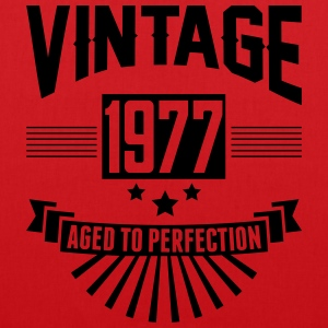 VINTAGE 1977 - Aged To Perfection T-Shirts - Tote Bag