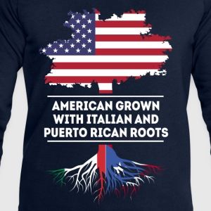 Italian and Puerto Rican Roots T-shirt T-Shirts - Men's Sweatshirt by Stanley & Stella