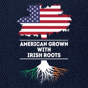 American grown with Irish Roots Irish T Shirt T-Shirts - Snapback Cap