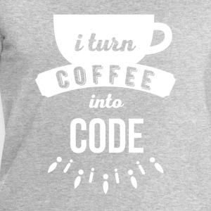 I turn coffee into code Programmers T Shirt Tops - Men's Sweatshirt by Stanley & Stella