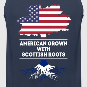American grown with Scottish roots T Shirt T-Shirts - Men's Premium Tank Top