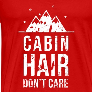Cabin hair don't care Camping T Shirt Tops - Men's Premium T-Shirt