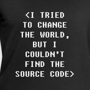 I Couldnt Find The Source Code Programmers T-shirt Tops - Men's Sweatshirt by Stanley & Stella