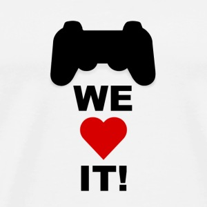 WE LOVE GAMING! - Männer Premium T-Shirt