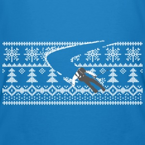 skier Norwegian sweater pattern Hoodies & Sweatshirts - Men's Organic T-shirt
