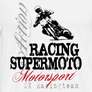 Supermoto Racing  Aprons - Men's Premium T-Shirt